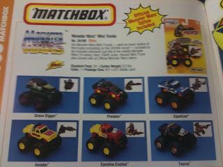 Matchbox Monster Wars Trucks From 1994