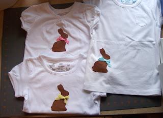 chocolate bunny shirt