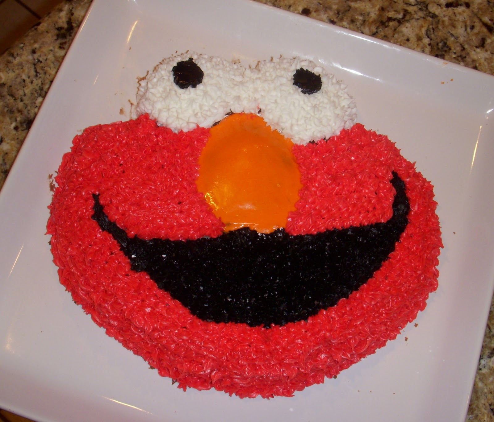 Elmo Cake Using Mrs Kelms Chocolate Recipe