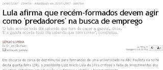 "lula Lula ""só no jargão"" ou ""Ah! tá né?!"""