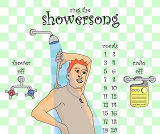 chuveiro Cantando no chuveiro