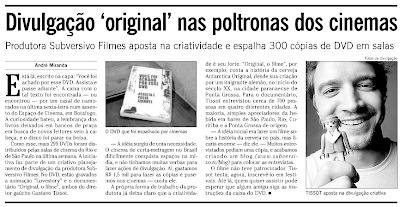 """Imagem4 Diretor gaúcho no jornal """"O Globo"""""""