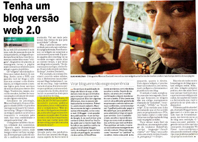 Dani jornal 1 Ah! Tri Né! no Estadão!!!