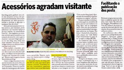 dani jornal 2 Ah! Tri Né! no Estadão!!!