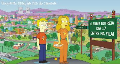 simpsons Estamos na fila para os Simpsons!!!