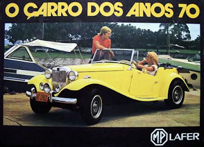 Reprodução do encarte promocional distribuído no Salão do Automóvel em 1975.