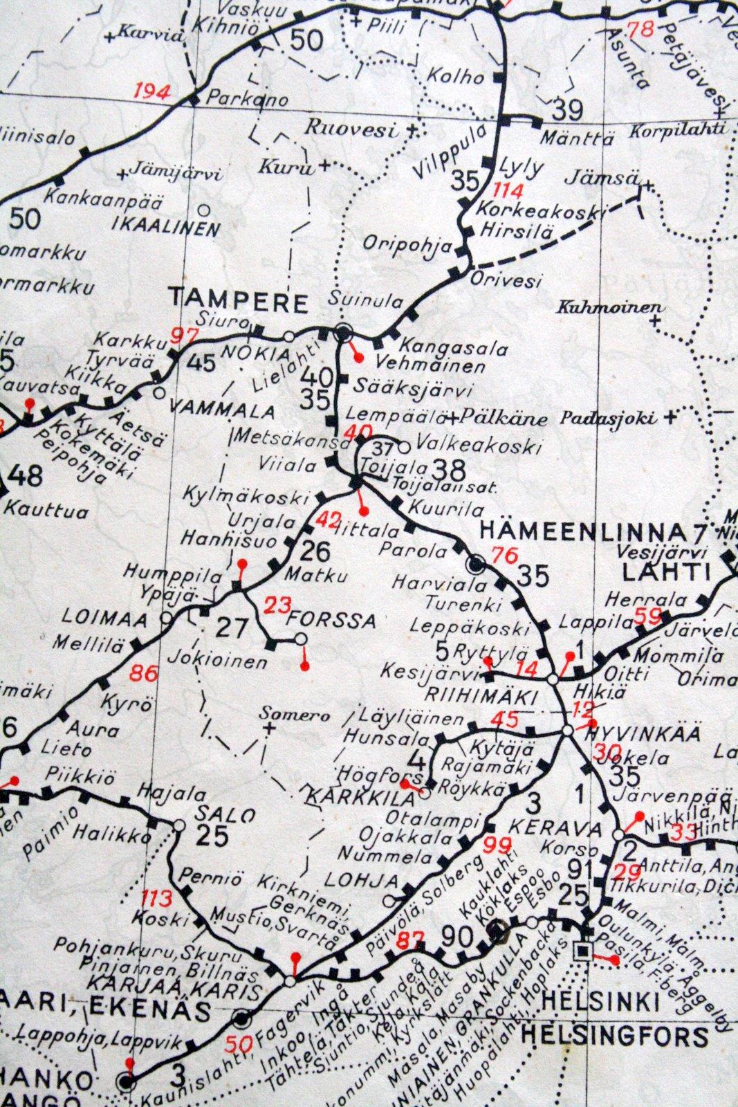 Valkoista Pellavaa Rautateiden Kartta