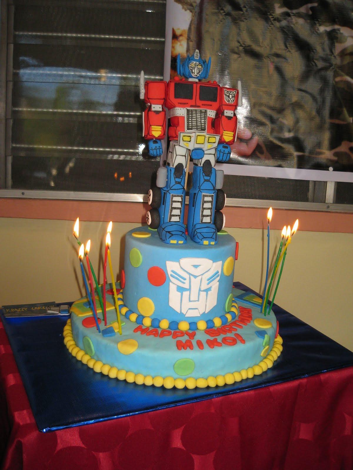 Krazzy Cakes Optimus Prime Cake
