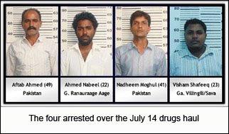 Arrests WorldWide (Drug Enforcement): July 2008