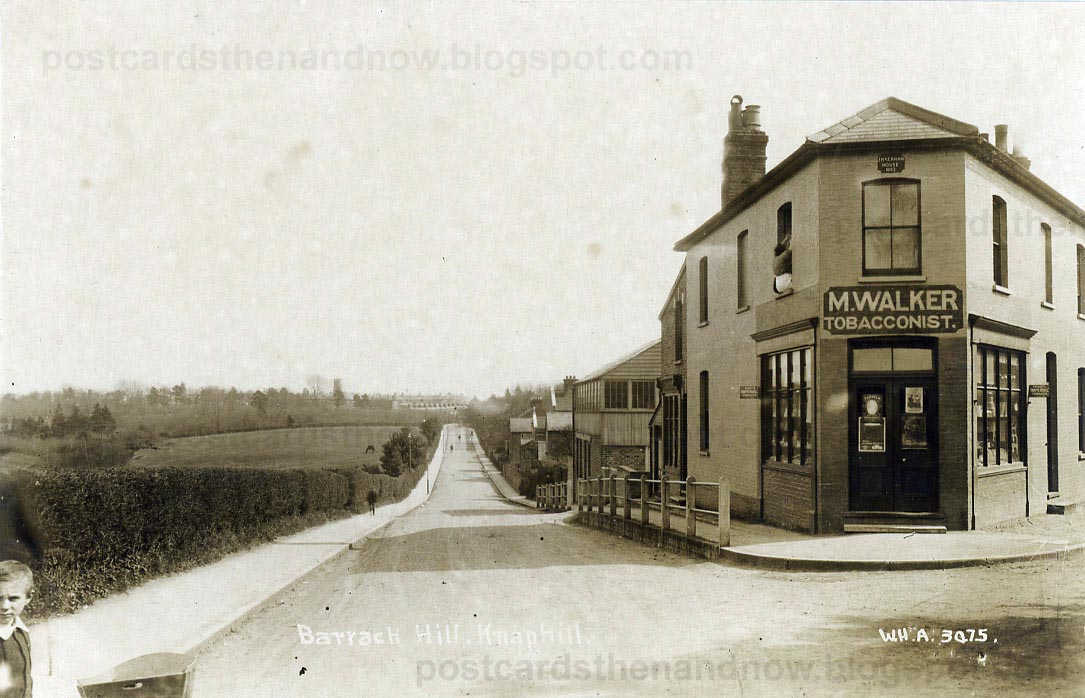 Postcards Then And Now: Knaphill, Barrack Hill, 1913