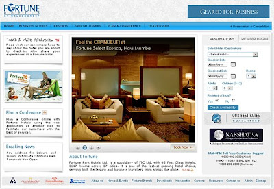 Click here to visit Fortune Hotels Website