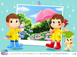 Sweet Girl Cartoon Wallpaper A Day In The Life Peko Chan Amp Poko Chan