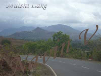 Scene of Mulshi lake region in Pune, India