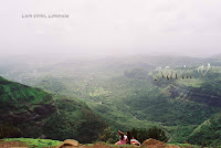 View from Lion Point at Lonavala in India