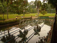 Sarasbaug pond at Pune in India