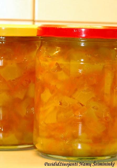 RECEPTAS: Cukinijų ir morkų uogienė (atsargos žiemai)