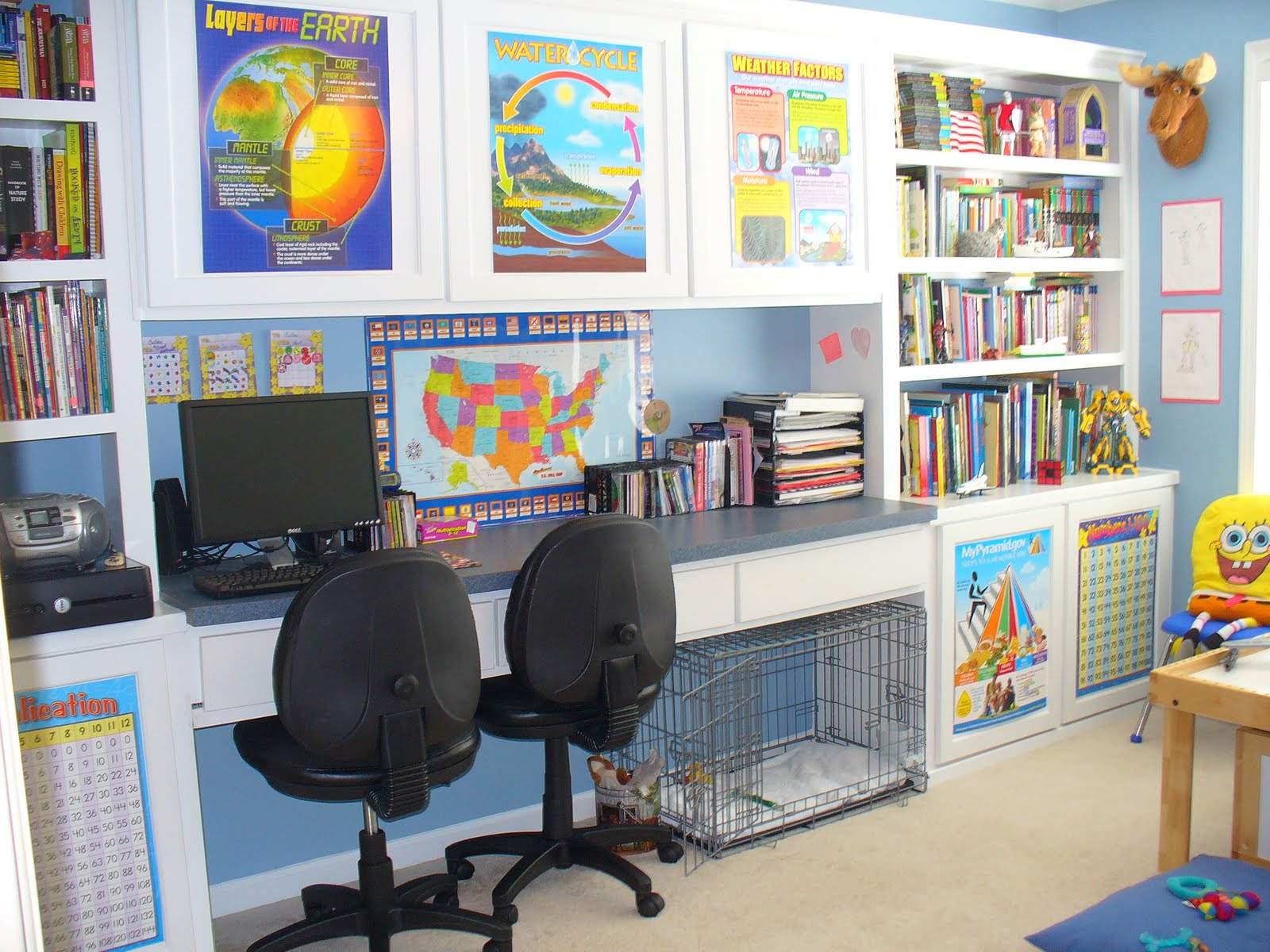 Bright and fun school room | Back to School: Coolest Learning Spaces
