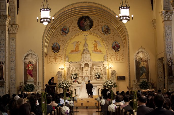 Bella Weddings  Events Cindy  Anthony  Holy Family Catholic Church  Pasadena Convention Center