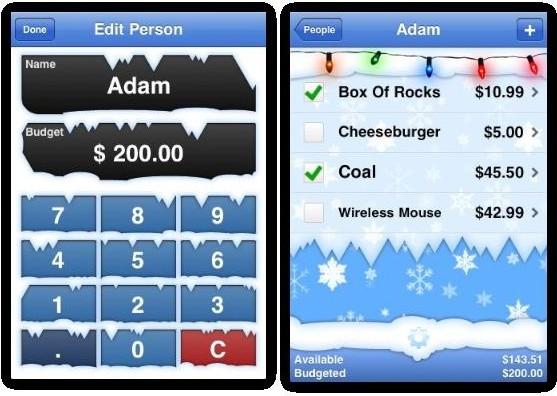 christmas shopping budgeting with christmas gifts list app apple