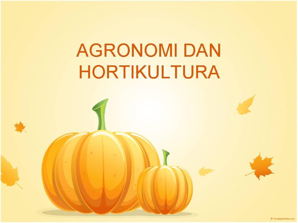 Apa itu Agronomi dan Hortikultura?