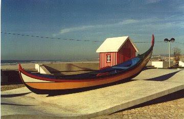 Uma vista da vila de Esmoriz