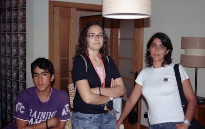 Ricardo, Cláudia e Célia