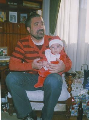 Tio Jorge e o Tomás no Natal de 2006