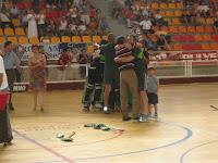 A festa após a vitória sobre o FC Porto por 2-1, em Junho de 2004