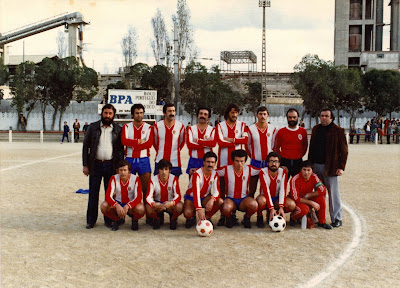 Um jogo do Alhandra SC no campo da Hortinha