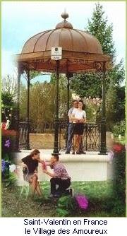 São Valentim em França, a vila dos apaixonados