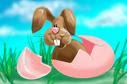 Um simpático coelhinho da Páscoa