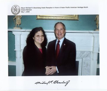 With Mayor Mike Bloomberg
