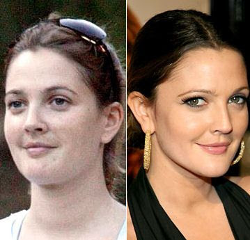 Celebrities+Without+Wearing+Makeup+drew+barrymore