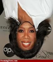 Oprah Winfrey face+upside down