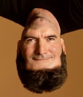 Simon Cowell face+upside down