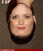 Christina Ricci face+upside down