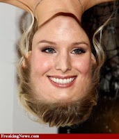Kristen bell funny+face+up+side+down