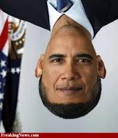 BARRACK OBAMA face+upside down