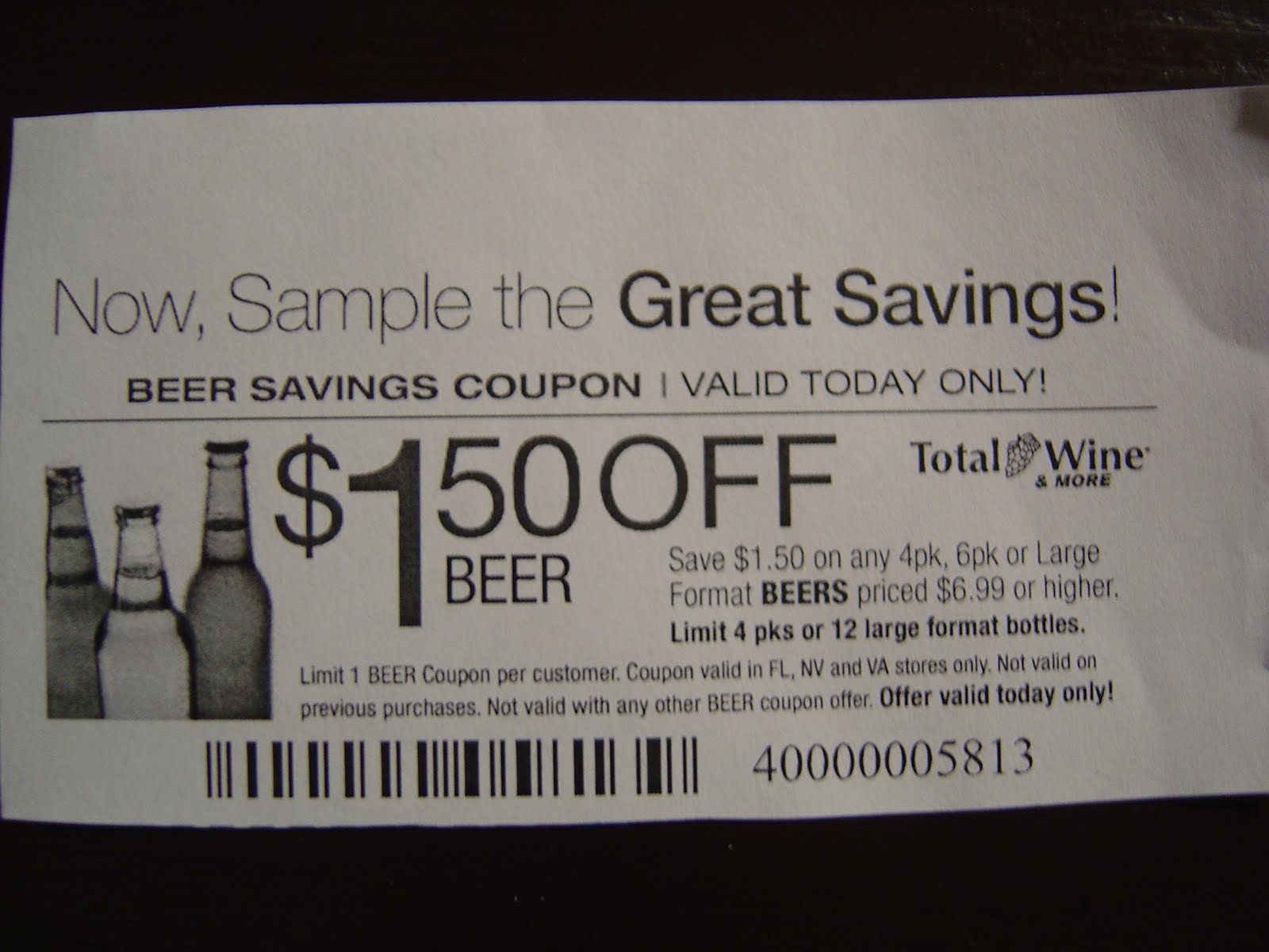 photo regarding Total Wine Coupon Printable referred to as Over-all wine coupon november 2018 / Knight discount codes