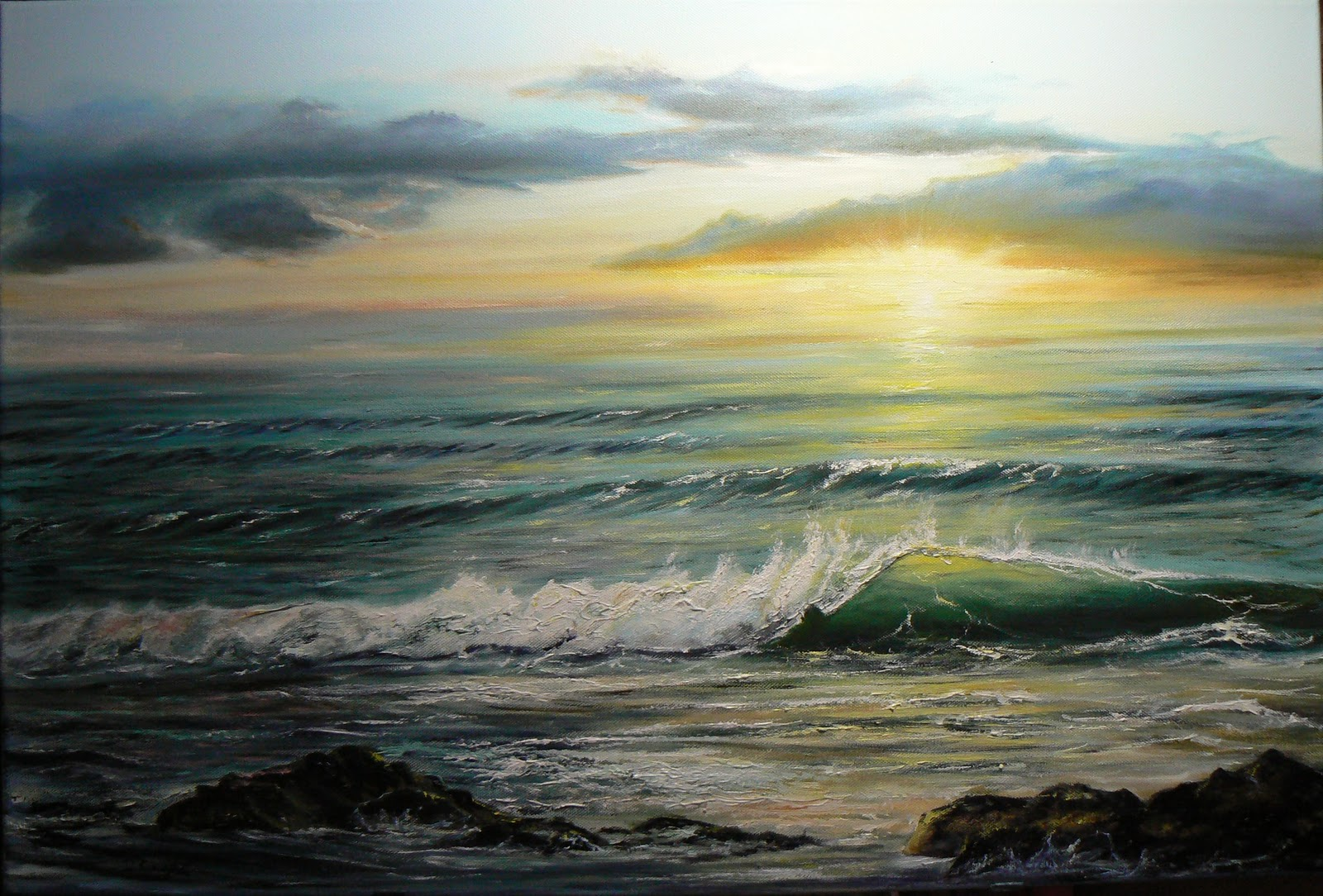 David Gayda marine, Seascape and wave painting artist ...