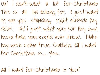 I Dont Want A Lot For Christmas.For Cielavin I Don T Want A Lot For Christmas