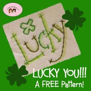 Lucky w logo 300 AMAZING St. Patrick's Day Stitching FREEBIE!!! 5