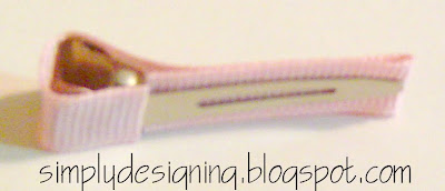 line+clip+04 Hair Flower Week - How to Line an Alligator Clip and a WINNER! 18
