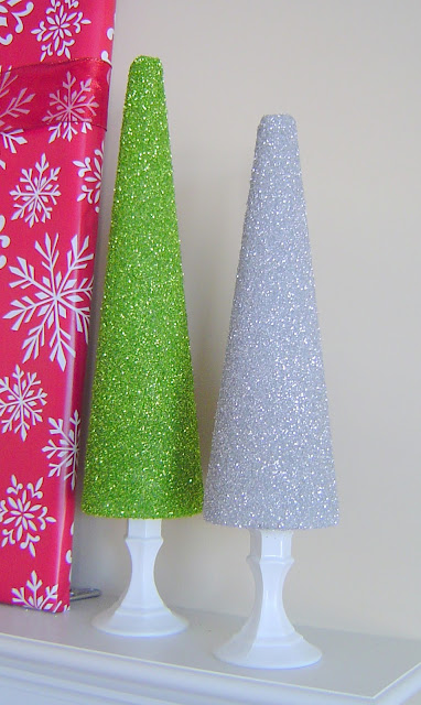 Glitter+Trees+Green+and+Silver Glitter Trees 6