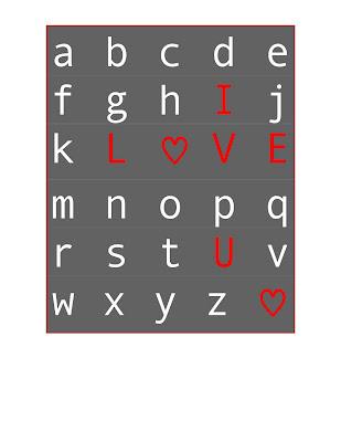 Craft+Vday Valentine's Day Subway Art FREE Printables 16