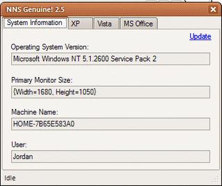 NNS Genuine 2.5 - Valide o Windows XP em um clique