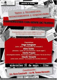 AEAPG - Comisión de Cultura: Conversando con gente de teatro