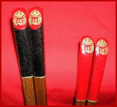 Couple Chopsticks Rest Set Daruma Afternoon Tea Japan