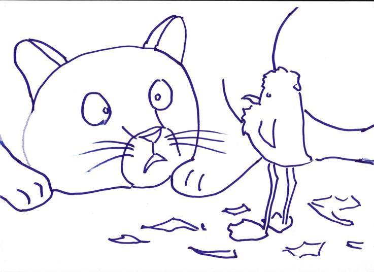 Stampa E Colora La Gabbianella E Il Gatto