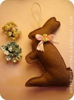 Felt Chocolate Bunny Decoration Tutorial